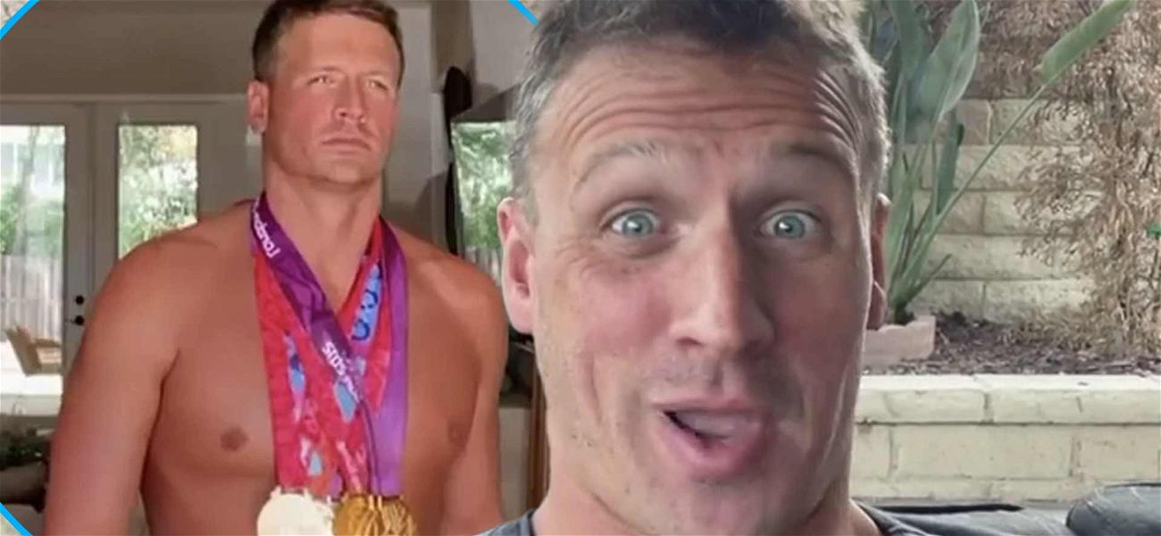 Ryan Lochte's Wife Makes Him Slow Walk In Pink Speedo And Olympic Medals For TikTok Challenge