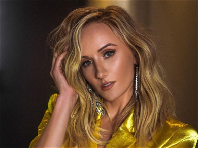 Gymnast Nastia Liukin Encourages Fans To Eat It Up In Silky Green Mini-Dress