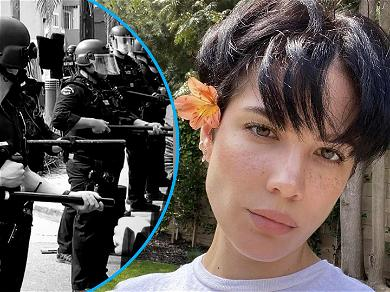 Halsey Says She Was Shot Twice By Rubber Bullets While On Front Line Of Los Angeles Riots
