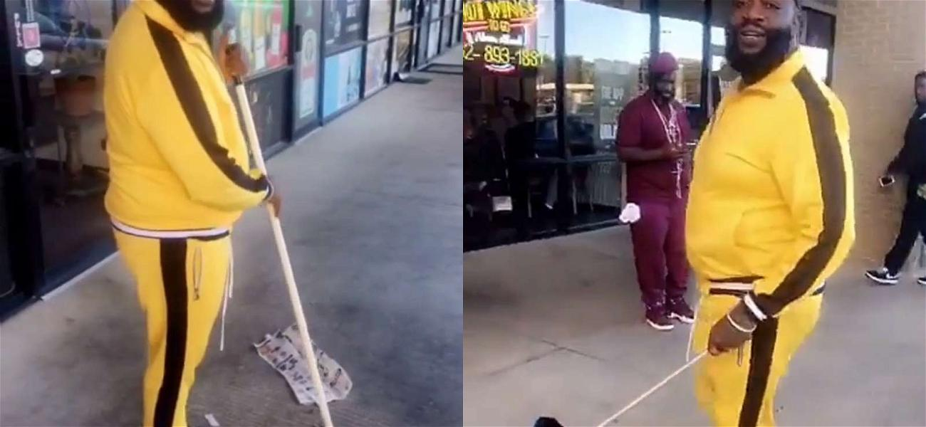 Rick Ross is Hustlin' Everyday … and Sweepin' Somedays