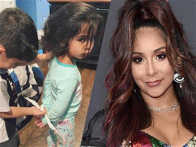 Snooki Shares Hilarious Pic Of Her Daughter Getting Fake Arrested: 'SHES A GOOD PERSON!'