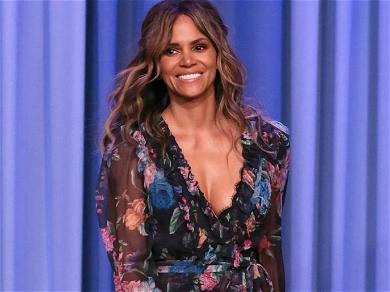 Halle Berry Is A Total Smoke Show In Ripped Bike Shorts & Boxing Gloves