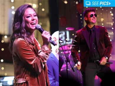 Robin Thicke and Vanessa Lachey Kick Off Beverly Hills Christmas