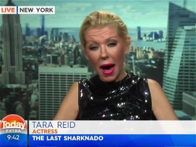 Tara Reid Slurs Her Way Through 'Sharknado' Interview