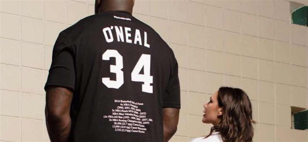 Victoria Beckham Teases Reebok Collab With Hilarious Shaquille O'Neal Photos