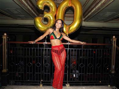 Karrueche Tran Celebrates Her 'Dutty 30' Birthday with Big Booty Cake and BF Victor Cruz