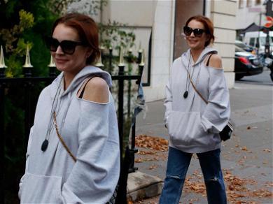 Lindsay Lohan Brushes Drama Off Her Shoulder While Strolling Through Paris