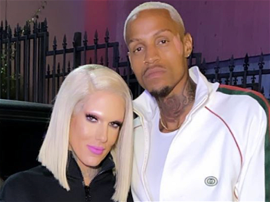 Jeffree Star Rubs On Boyfriend Andre Marhold's Chest For Photoshoot