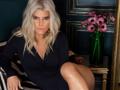 Jessica Simpson 'Such a Snack' With Legs Over Head For AM Stretch