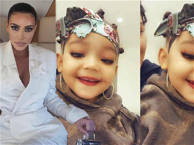 Kim Kardashian Reveals Daughter Chicago Is Not Allowed To Wear Lipstick But Cousin Stormi Is