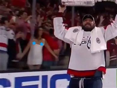 Stanley Cup Flasher Puts 'Em On the Glass During Alex Ovechkin's Victory Skate