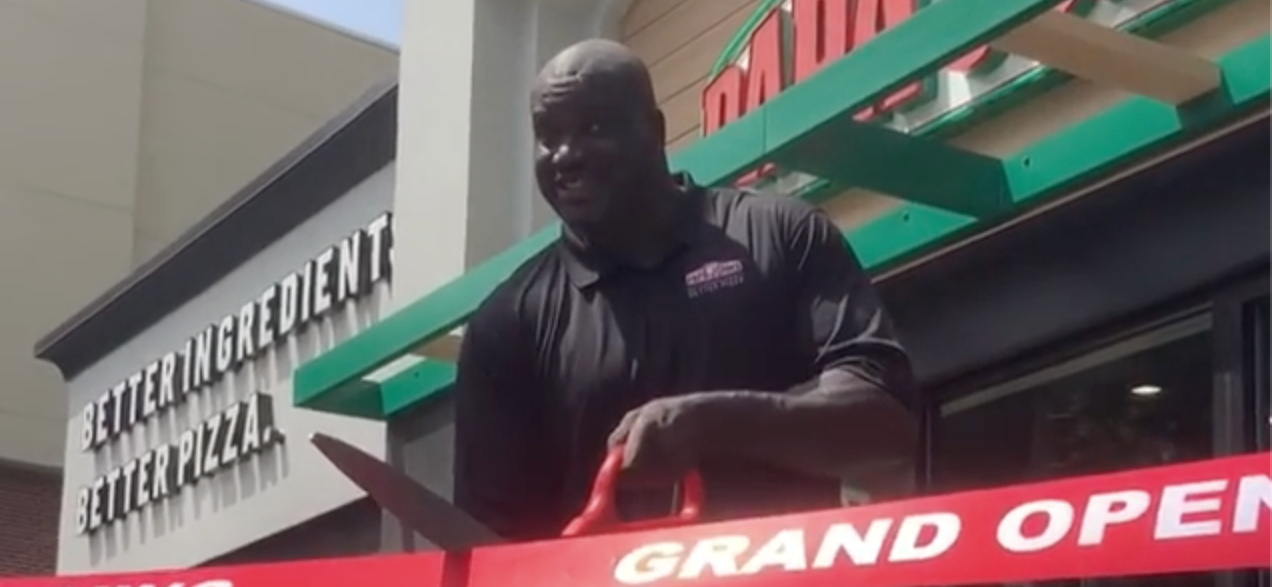 Shaq Partners With Miles College to Bring a Papa John's Pizza Store to Every HBCU Campus