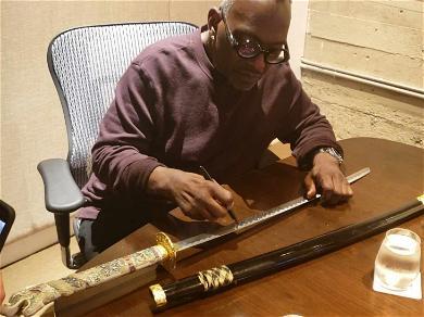 Randy Jackson Autographs Samurai Sword as 'Step Brothers' Tribute for Auction