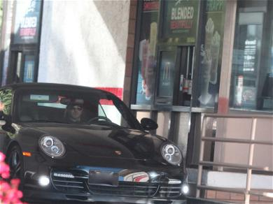 Robin Thicke Fills Up on Fries During McDonalds Run