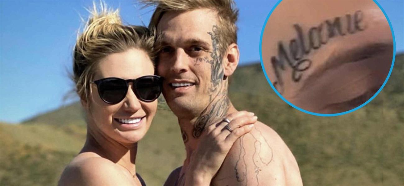 Aaron Carter's New Girlfriend Viktoria Slams Haters Over His 'Melanie' Face Tattoo