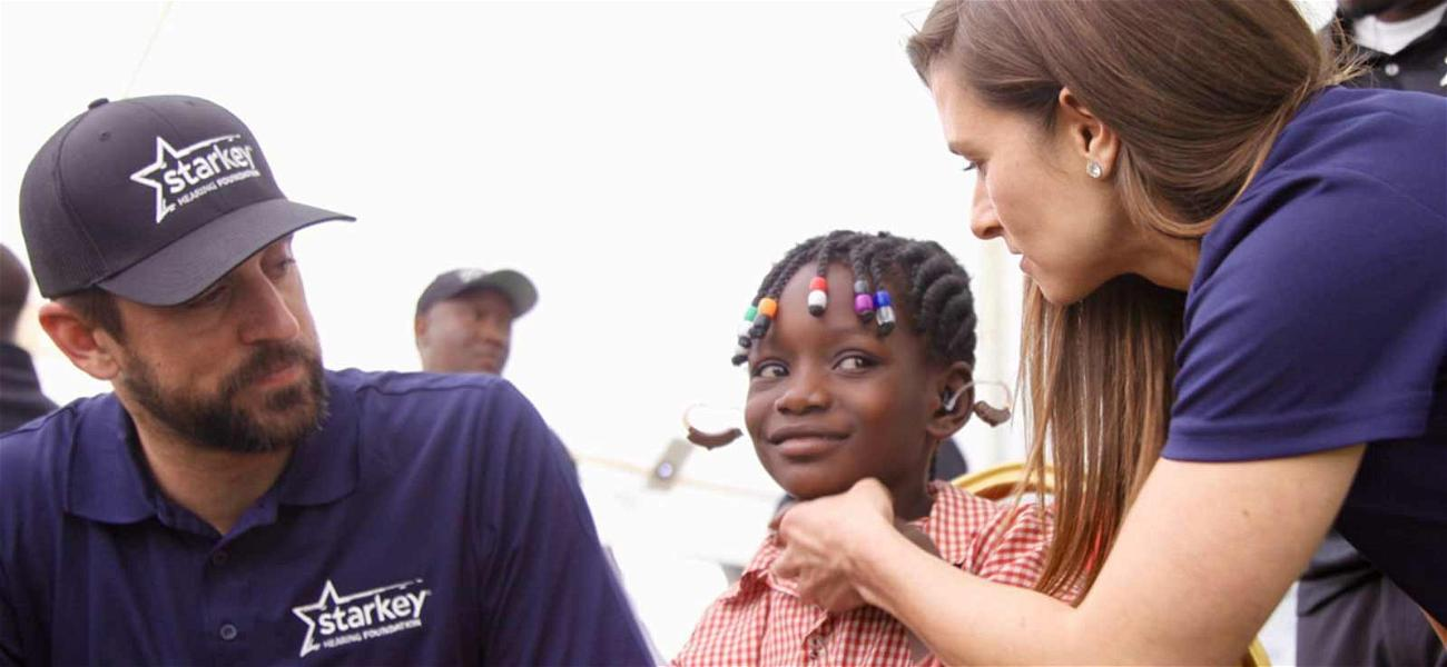 Aaron Rodgers and Danica Patrick Travel to Africa to Help Hearing Impaired