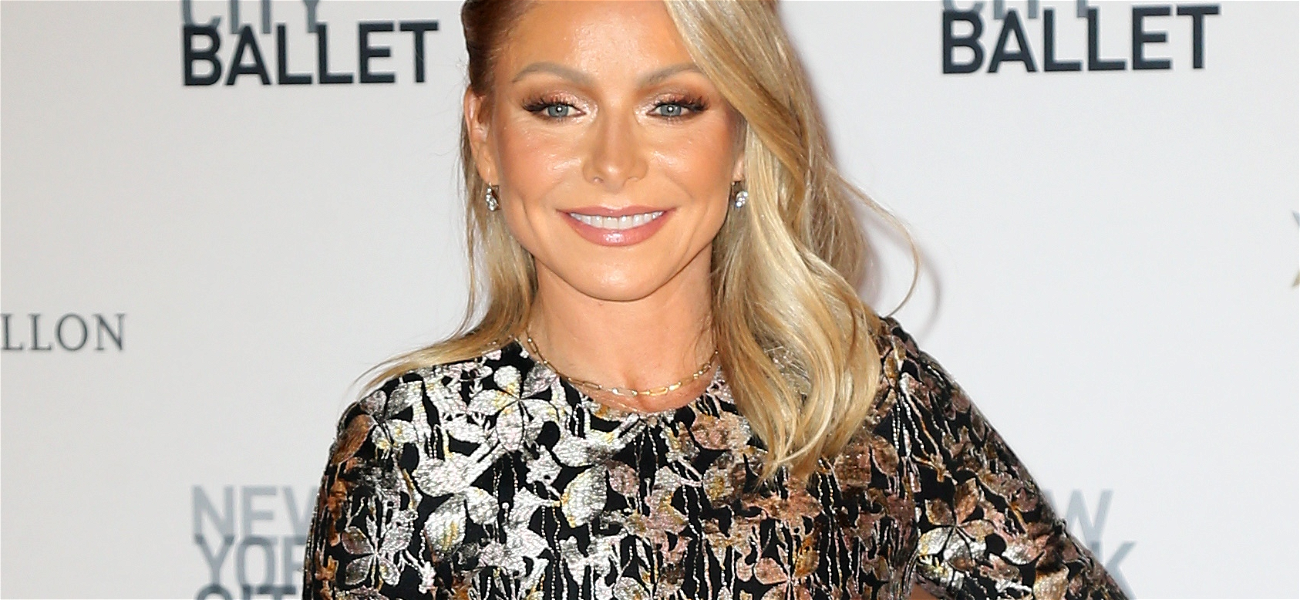 Kelly Ripa's Tiny Figure Explodes Out Of Skintight Pencil Skirt