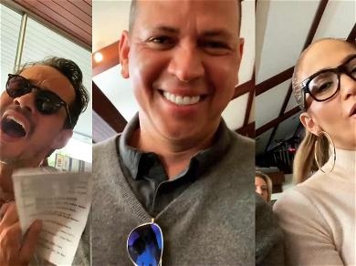 A-Rod Sandwiched Between Singing Exes J. Lo & Marc Anthony During Son's Recital