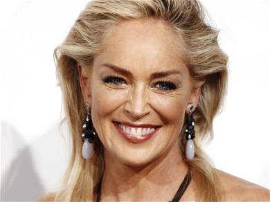 Sharon Stone Rocks Strappy Swimsuit After Botched Breast Surgery Reveal