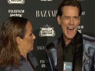 Jim Carrey Rips Icons at 'Meaningless' NYFW Party