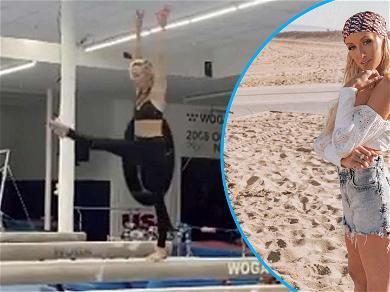 Olympic Gymnast Nastia Liukin Recreates Her Famous Front Flip From 2008 Beijing Olympics