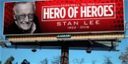 Stan Lee Gets 160 Sky-High Tributes from Advertising Company