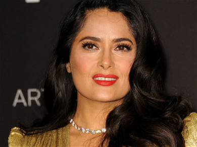 Salma Hayek Shows Off Natural Beauty With 'White' Hair & No Makeup