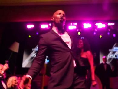 Jamie Foxx Gets The Oscars After-Party Started