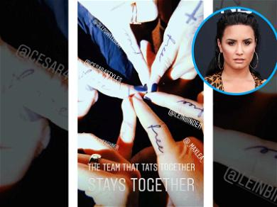 Demi Lovato & Team Get Matching Tattoos After Singer Reveals She's 'Not Sober Anymore'