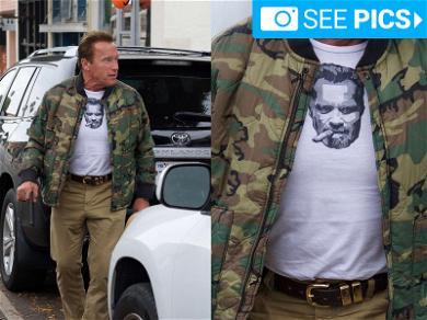 Arnold Schwarzenegger Wears Himself Out