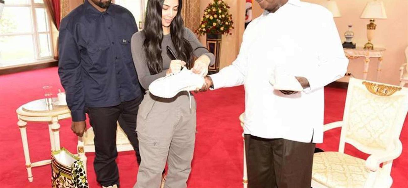 Kanye West & Kim Kardashian Gift Yeezys to Ugandan President