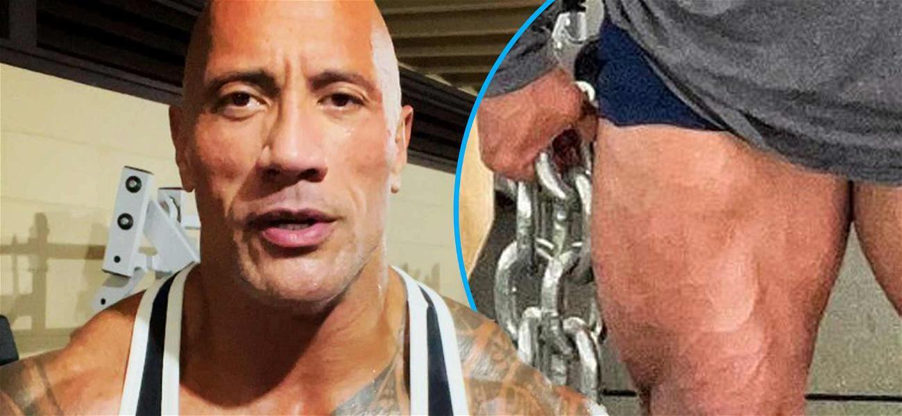 Dwayne 'The Rock' Johnson Hopes Massive Thighs Save Lives During 'Black Adam' Workout