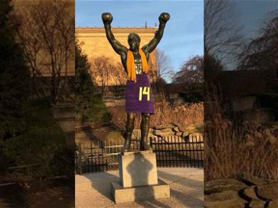Vikings Fans Deliver Ultimate Troll to Eagles: Yo Adrian, You Look Good in Purple!