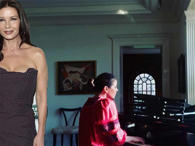 Catherine Zeta-Jones Tickles Those Ivory Keys While Showing Off Amazing Piano/Singing Skills