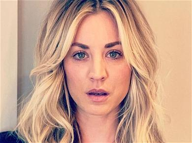 Kaley Cuoco Loses Coverage, Not Class, In Dinner Corset Spill-Out