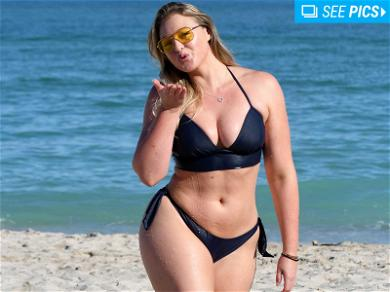 Iskra Lawrence Shows Off Scorching Curves in Miami Beach