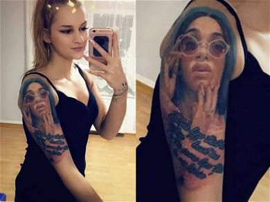 Cardi B's #1 Fan With Giant Tattoo of Rapper's Face Revealed!