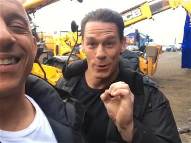 Vin Diesel & John Cena Troll 'Fast 9' Fans On WWE Star's Last Day Of Filming