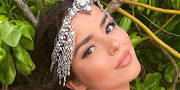 Demi Rose Flaunts Lace & Grace With Thorny Black Rose Bra