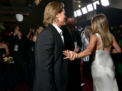 Brad Pitt And Jennifer Aniston's Hand Grab At SAG Awards — See The Internet Melting Pic!