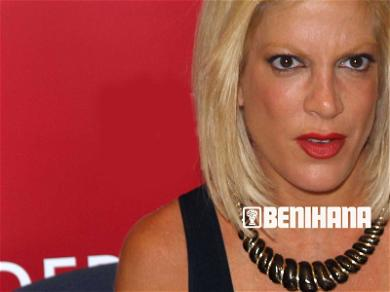 Tori Spelling's Benihana Settlement Cash in Jeopardy By Hungry Creditor