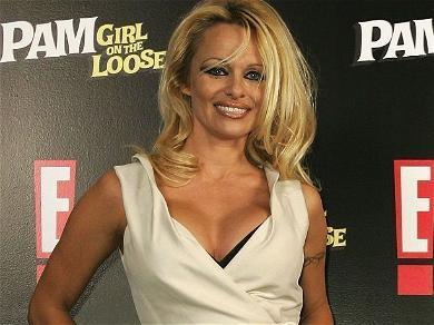 Pamela Anderson Hangs In Triangle Bikini By A Highway