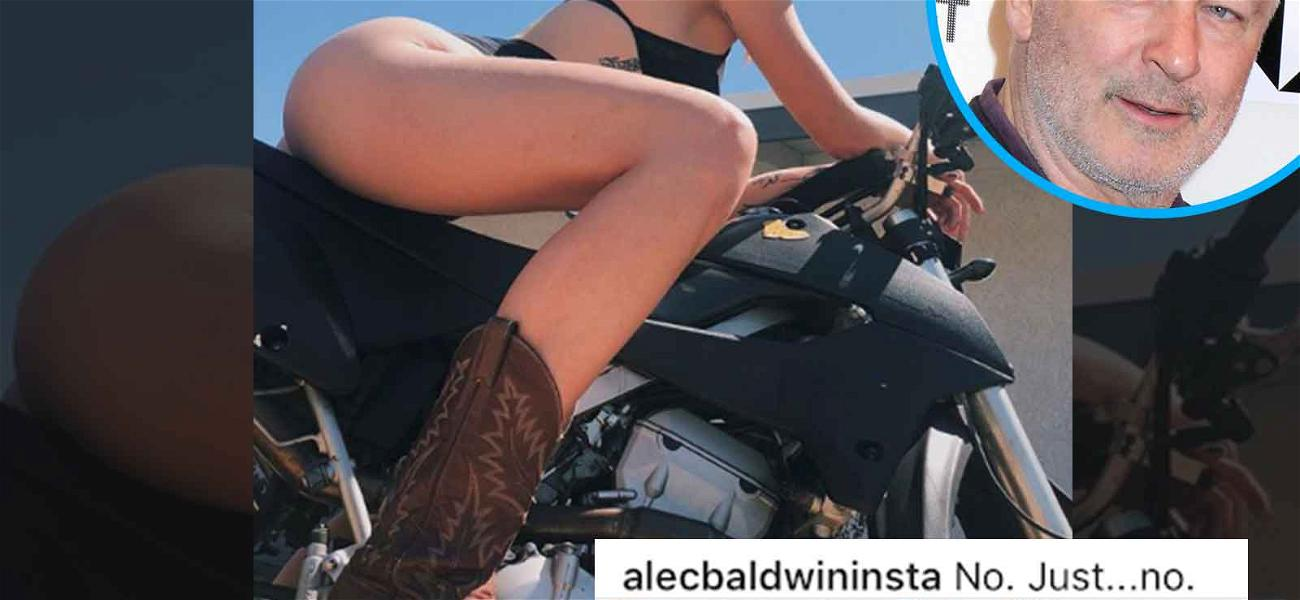 Alec Baldwin Not Feeling Pic of Daughter Ireland Straddling a Hog