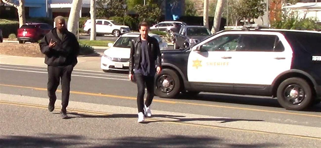 Kanye West Catches a Break While Jaywalking in Front of the Cops