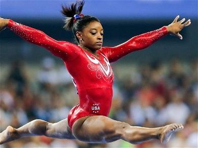 Simone Biles Loses Her Clothes In Mind-Blowing Handstand Challenge