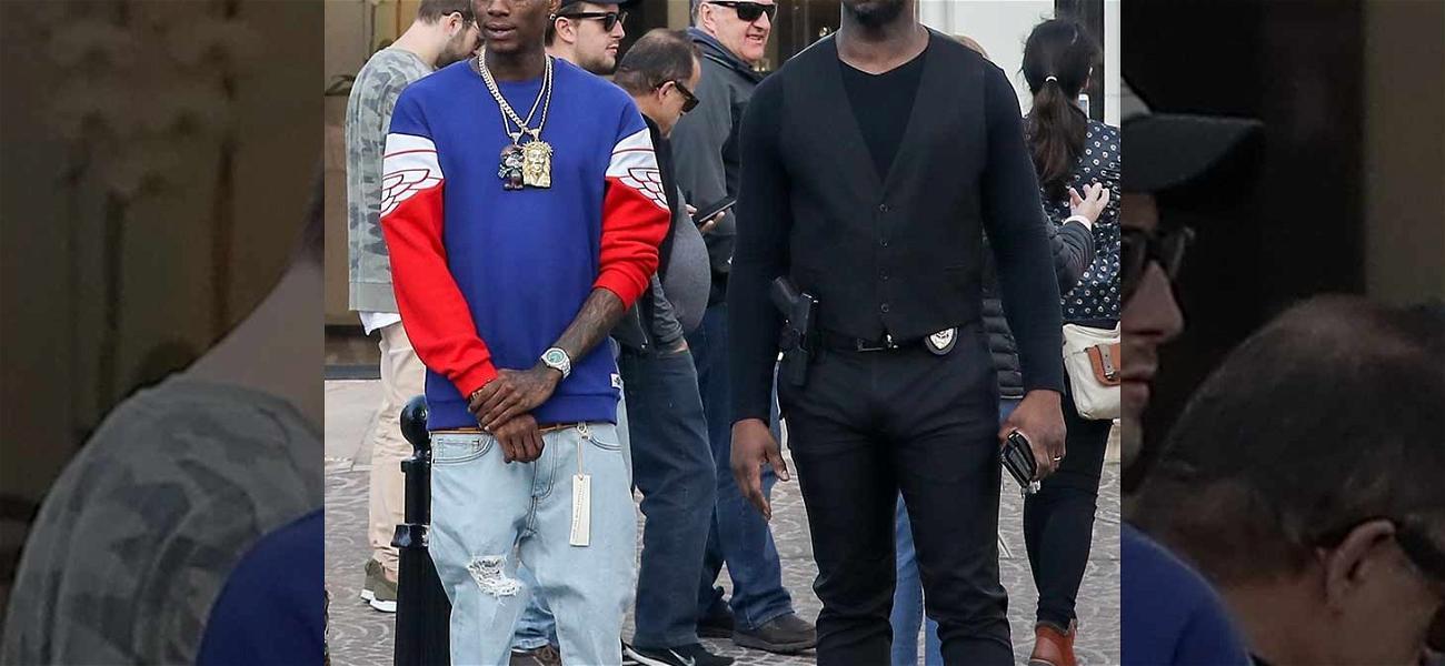 Soulja Boy Shops in Beverly Hills, Security Guard Flashes Handgun In Public