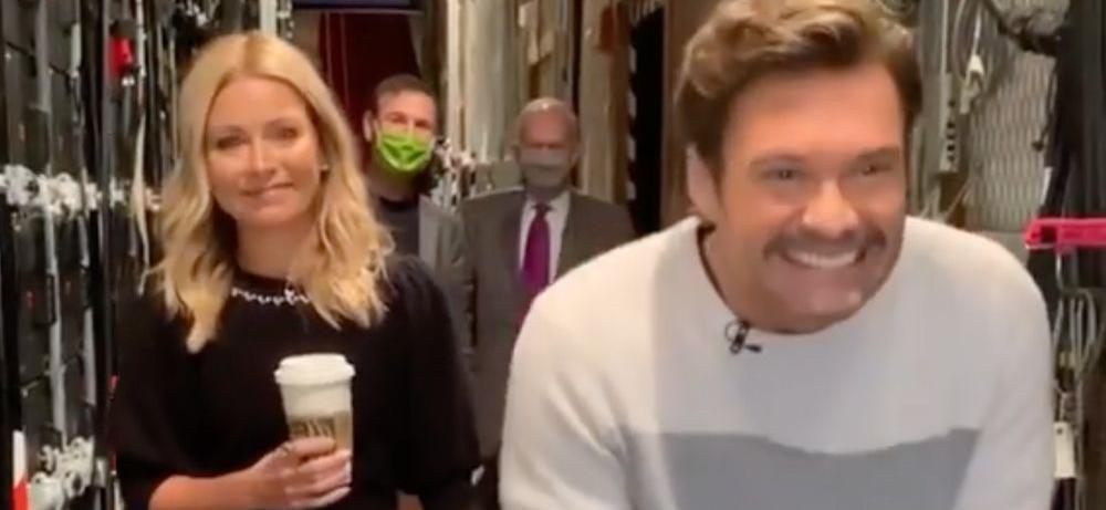 Ryan Seacrest Gut Sucks While Kelly Ripa Eyes Breakfast Eggs