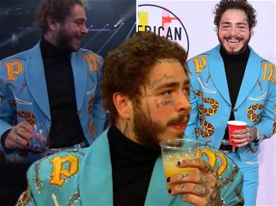 Post Malone Knocks Back Three Different Drinks to Celebrate AMAs