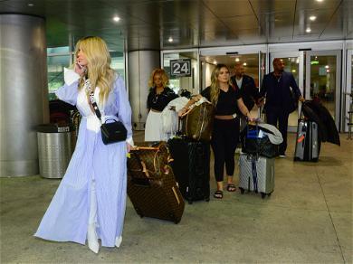 Kim Zolciak's Airport Attire