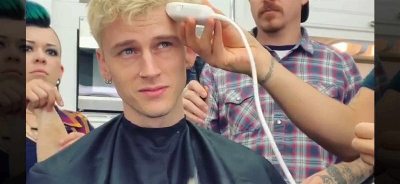 Machine Gun Kelly Gets Buzzed for Jamie Foxx's Netflix Movie